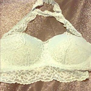 Pink Victoria's Secret lacy push up bra